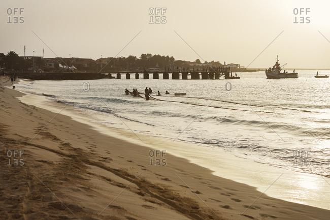 October 22, 2017: Beach in Cape Verde, Africa