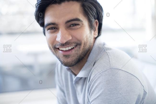 Smiling man, portrait.