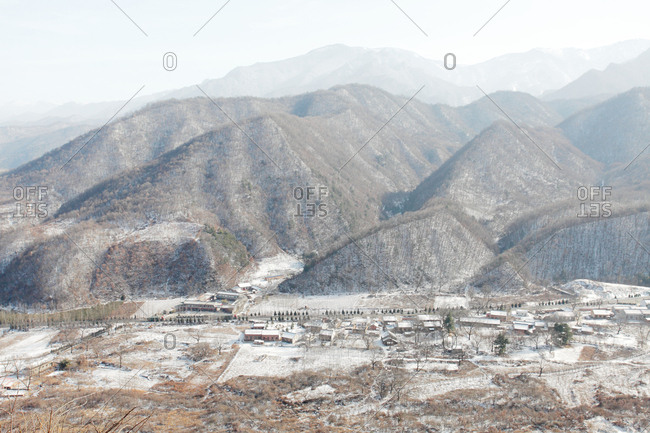 Shaanxi qinling taibai mountain snow village