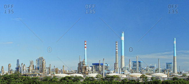 China - September 11, 2019: Petrochemical oil refinery
