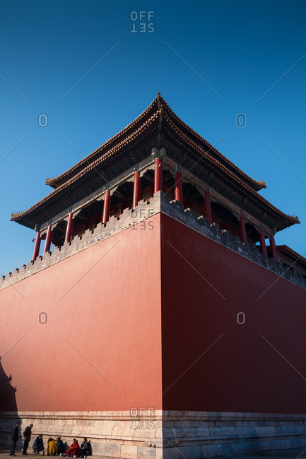 September 11, 2019: Meridian gate of Beijing the imperial palace