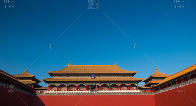 Meridian gate of Beijing the imperial palace