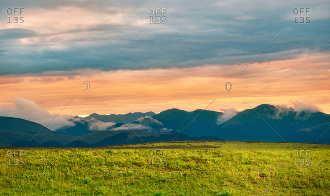 Litang scenery at sunset
