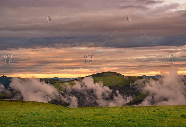 Litang plateau scenery