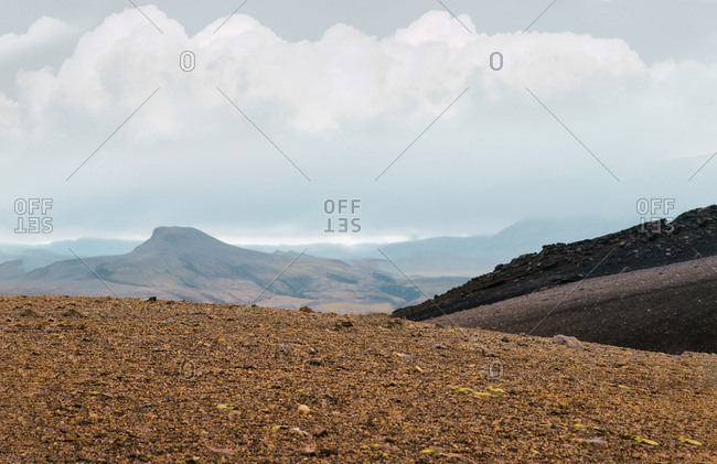 The top of the mountain scenery