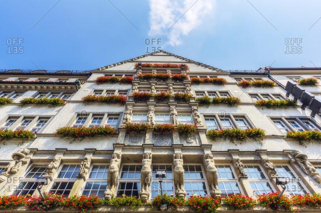 Germany- Bavaria- Munich- Neuhauser Strasse- facade of department store