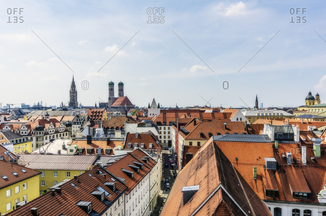 Germany- Bavaria- Munich- City Center and Cathedral of Our Lady
