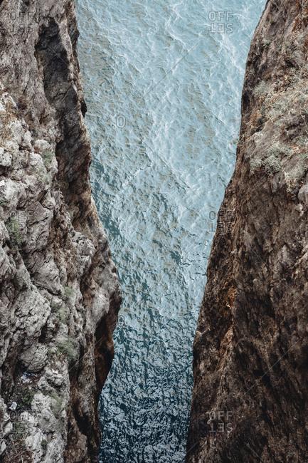 Mountain Broken Sanctuary in Gaeta, province of Latina, Lazio, central Italy, detail