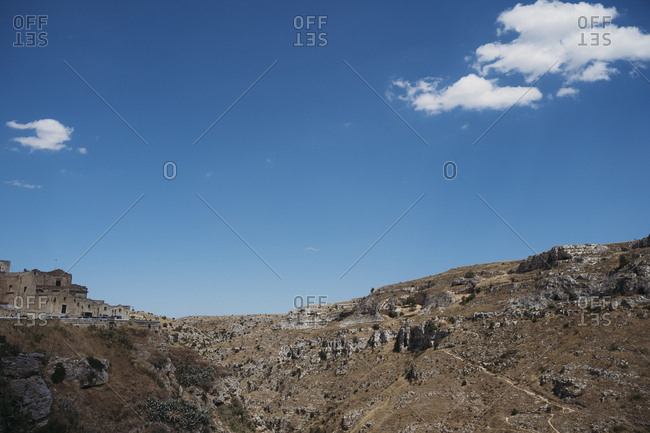 View of ancient Sassi di Matera, one of the three oldest cities in the world