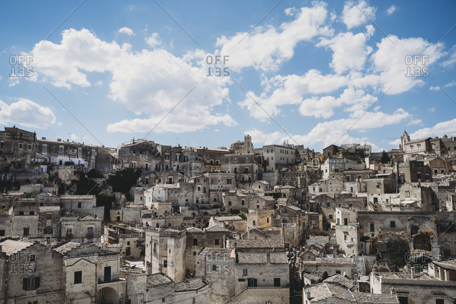 View of ancient, Sassi di Matera, one of the three oldest cities in the world
