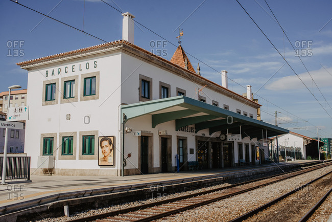 Barcelos, Portugal - October 18, 2018: Train station Barcelos, Portugal