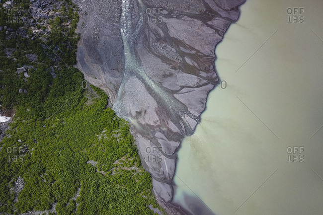 River veins from bear glacier
