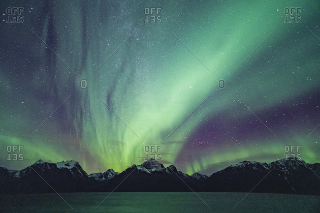 Dancing northern lights