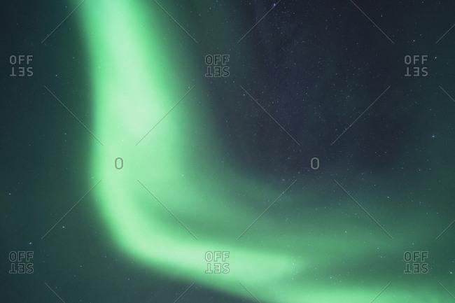 Northern light streak in northern norway sky
