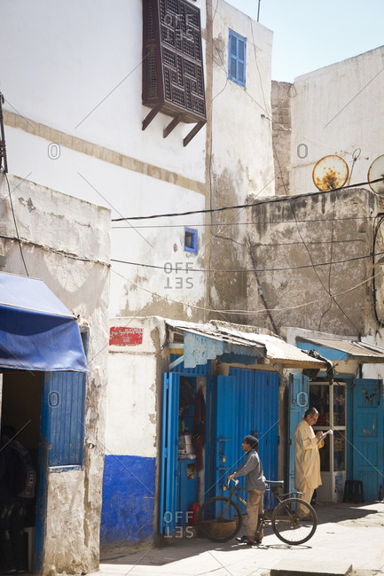 March 29, 2013: Small shops in Essaouira, Morocco, Africa