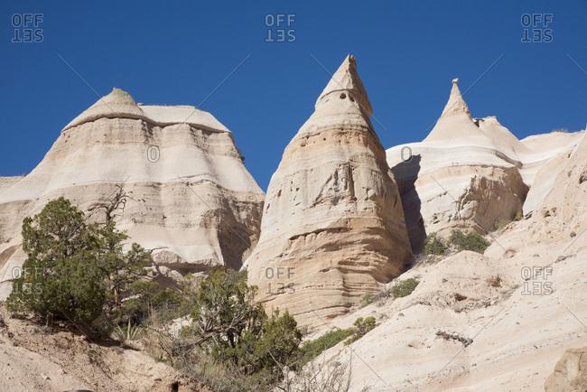 Peaks at Kasha-Katuwe Tent Rocks National Monument, New Mexico
