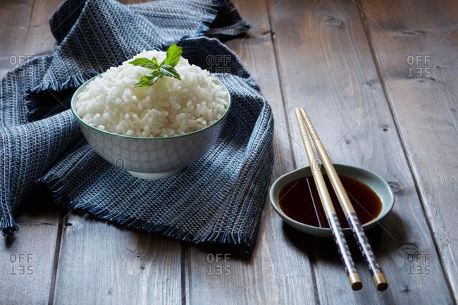 Japanese food and chopsticks