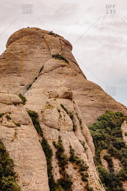 Landscape of the mountains of montserrat, catalonia, spain