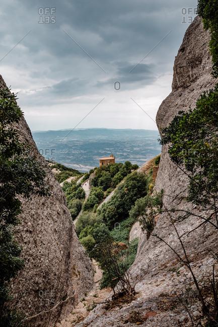 Hermitage of sant joan of the mountain of montserrat, catalonia, spain