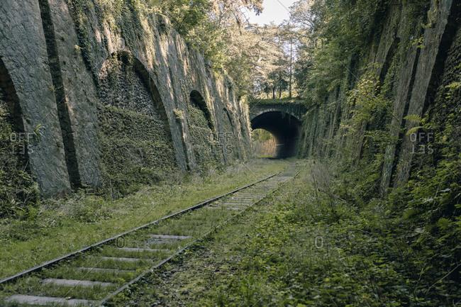 Abandoned aged railway