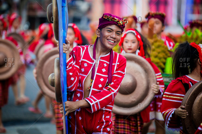 Davao, Philippines - November 13, 2018: Performers at the annual Kadayawan Festival