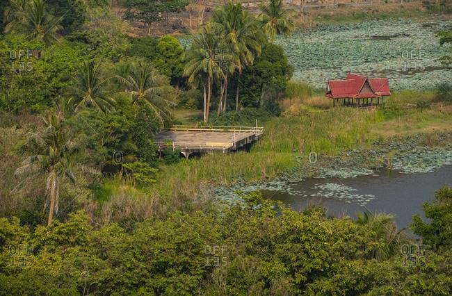The lagoon at kaeng krachan dam