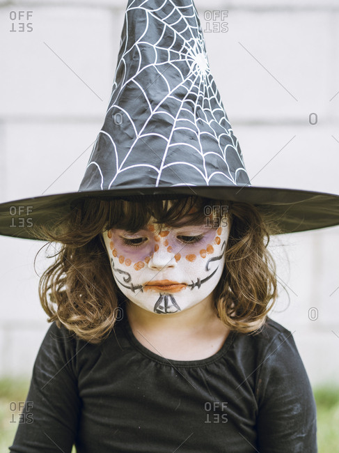 Girl dressed up for halloween
