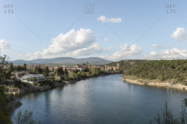 Madrid, spain - may 2, 2019: village of buitrago de lozoya located in the northern area of madrid