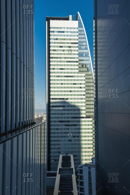Japan, aichi, nagoya - january 4, 2019: skyscrapers in nagoya