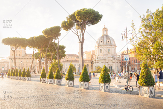 Rome, italy - august 30, 2019: walking in rome italy