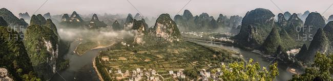 Guangxi guilin lijiang river scenery5