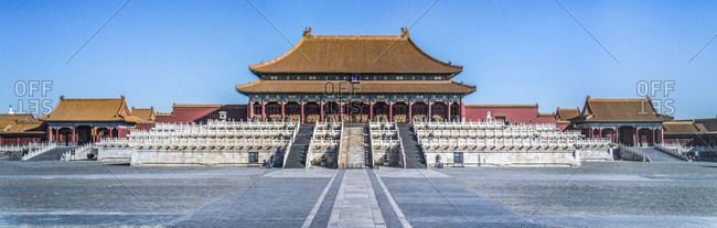 September 11, 2019: The palace hall of supreme harmony