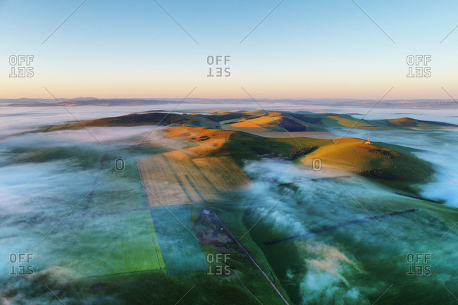 The hulunbuir cloud and mist of the field