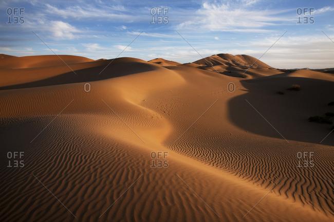 The badain jaran desert