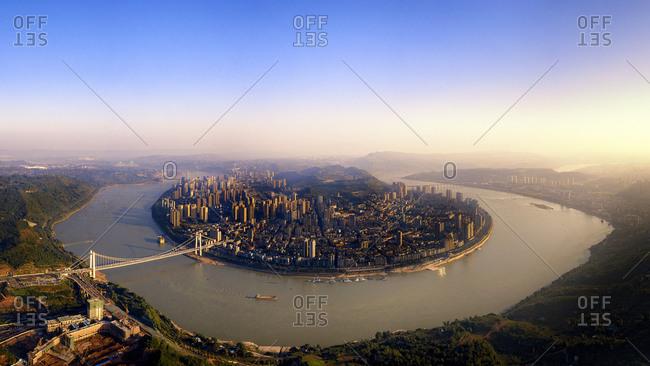 Chongqing metro panoramic