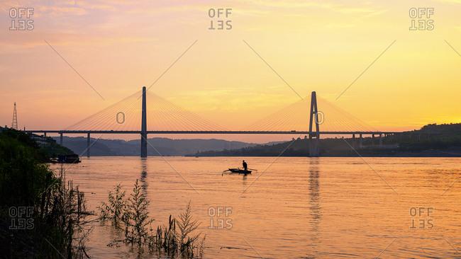 Chongqing metro outer ring of the Yangtze river bridge