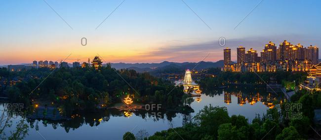 September 11, 2019: Bishan show moonlit lake park
