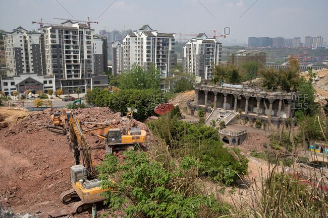 September 11, 2019: Chongqing foreigner street before the demolition
