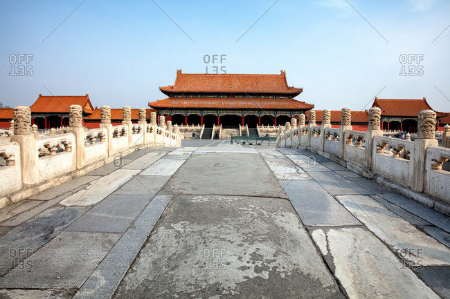 The gate of Beijing the imperial palace