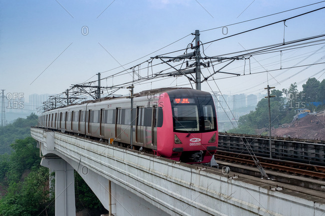 September 11, 2019: Chongqing light rail transportation