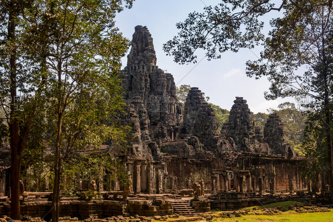 Ruins at The Angkor Wat Temple Complex, Cambodia