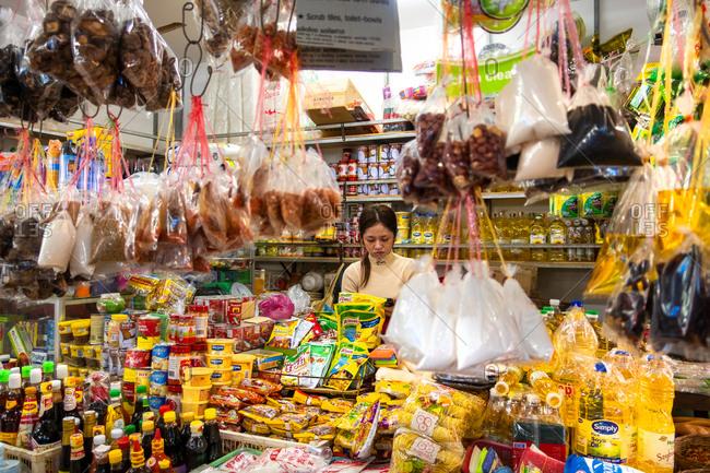 November 2, 2018: Night Market at Siem Reap, Cambodia
