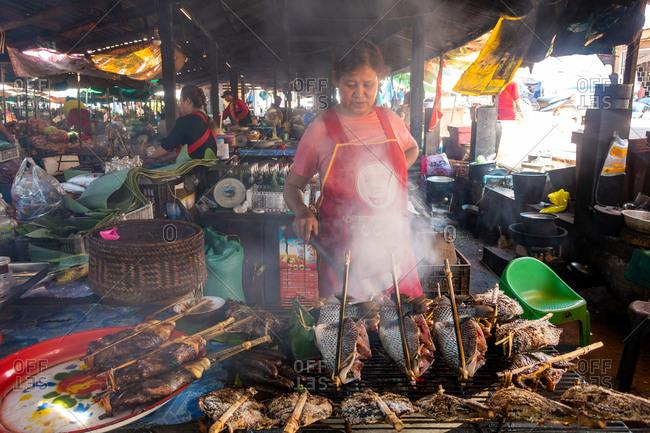 November 6, 2018: Vientiane Night Market, Laos