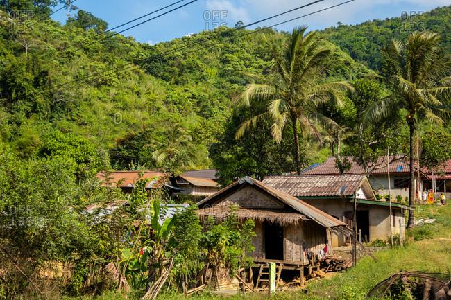 Hill village near Vang Vieng in Laos