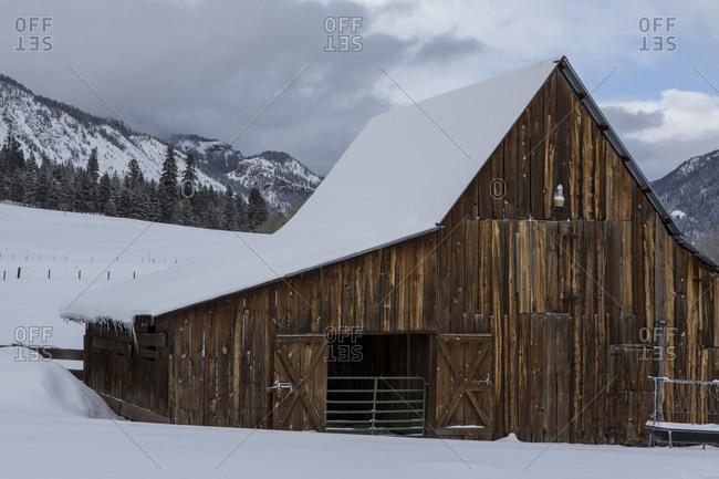 Winter landscape in colorado's san juan mountains