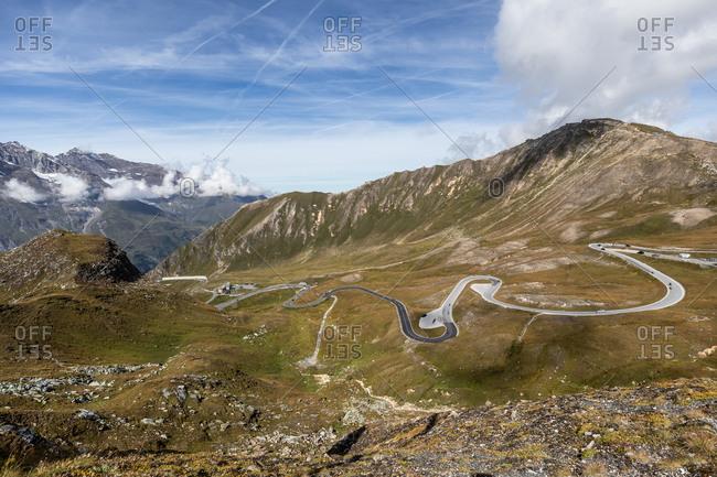 Grossglockner High Alpine Road, the highest mountain road in Austria, Margaritzenstausee, Austria