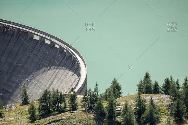 Dam at the Grossglockner High Alpine Road, Margaritzenstausee, Austria