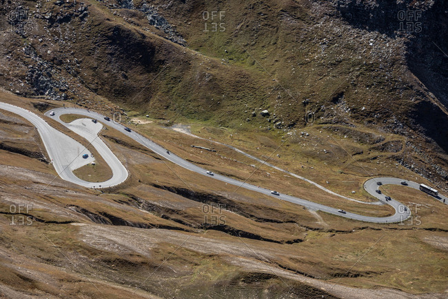 Grossglockner High Alpine Road, the highest winding mountain road in Austria