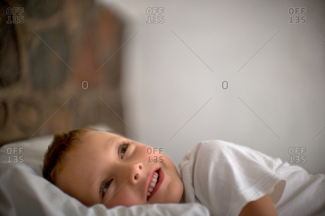 Boy in his bed