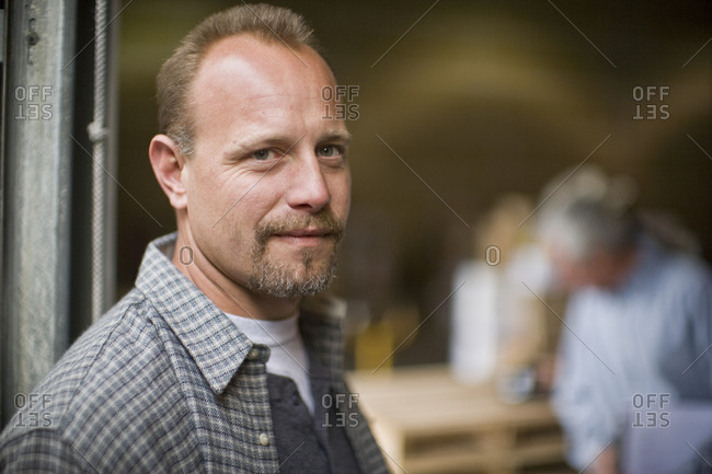 Portrait of a mid-adult man with a goatee.